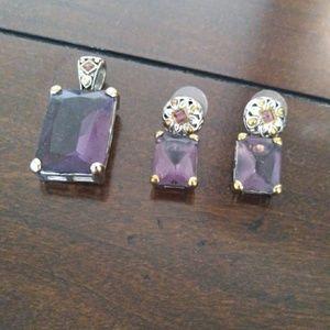 Purple stone set